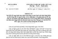 Thông tư 164/2015/TT-BTC có hiệu lực ngày 20/12/2015