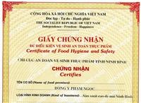 Thủ tục về chứng nhận chất lượng thực phẩm XNK